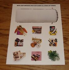 Original 1976 Volkswagen VW Station Wagon & Campmobile Sales Brochure 76