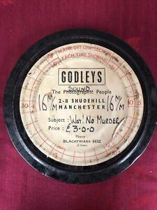 """Vintage 16mm Cine Film """"Wot! No Murder"""" Made By Godley's Of Manchester 1960/70"""