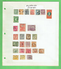 #T313. PAGE OF AUSTRALIAN STATE STAMPS