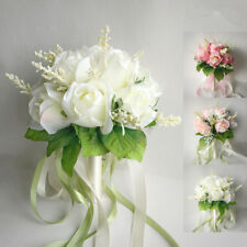 Artificial Roses Wedding Party Bridal Bouquet Bride/Bridesmaid /Throwing Flower