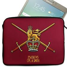 """Personalised Tablet Sleeve BRITISH ARMY LOGO 7"""" - 11"""" Army Case MC07"""