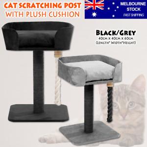 Cat Scratching Post & Soft Plush Cushion Sisal Pad Tower Tree Platform Scratcher