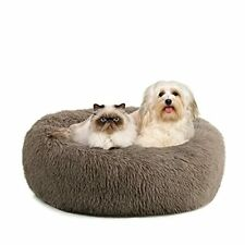Kimicole Cozy Donut Calming Dog Bed Cat Bed, Super Soft Fluffy Washable