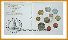SLOVENIE Coffret BU 2011 - 10 Monnaies (dont 2 et 3 Euro commémoratives)