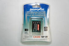 Digipower BP-CNP80 Replacement Li-Ion Battery for Casio NP-80