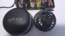 (USED) MADE IN THE U.S.A. ORVIS CLEARWATER LARGE ARBOR TWO FLY REEL + POUCH & FL