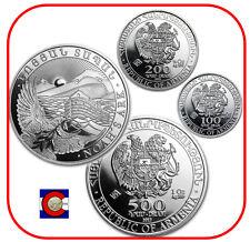 2012 Armenia 1/4, 1/2, & 1 oz Silver Noah's Ark Coins, 3 coins in airtites