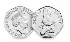 FLOPSY BUNNY 50p FIFTY PENCE Beatrix Potter GREAT CONDITION RARE ! L@@K !