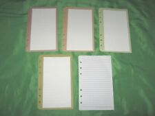 Compact 50 Pages Color Wide Lined Note Sheets Franklin Covey Planner Refill