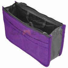 Purple Women Travel Insert Handbag Organiser Purse Large Liner Organizer Bag