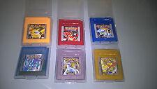 LOTE GB Pokemon Game Boy ROJO AZUL AMARILLO ORO PLATA CRISTAL --