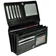 XXL Geldbörse mit RFID-Blocker weiches Nappaleder Portemonnaie Geldbeutel Damen