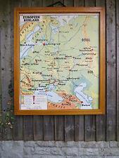 VINTAGE BIADESIVO Mappa dell'Europa Russia & URSS E I VICINI-Carta anni 1960