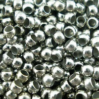 Lot 100-200-500 Perle a Ecraser 2mm Argente Mat Appret Creation bijoux Collier