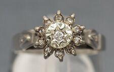 Vintage Womens Diamond Wedding/Engagement Ring 18ct White Gold Diamond
