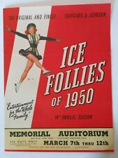Ice Follies of 1950 Advertising Flyer Folded Mail Order Form Buffalo Rare