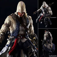 """10"""" ASSASSIN'S CREED 3 - CONNOR KENWAY PLAY ARTS KAI VARIANT ACTION FIGURE TOY"""