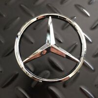 "New - Mercedes-Benz™ MB M-B Trunk Glossy Chrome Star Emblem Badge 2.95"" 75mm AMG"