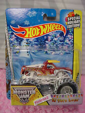 2014 Monster Jam Special Holiday Ed EL TORO LOCO❊Brown Truck;snowy❊Hot Wheels