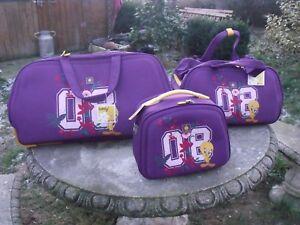 lot sac de voyage valise Titi TWEETY NEUVE Rose Mauve Fille