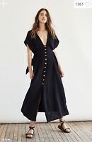 Free People Jacinta midi Dress Black S