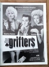 Angelica Houston The Grifters 1991 magazine ADVERT/Poster/clipping 11x8 inches