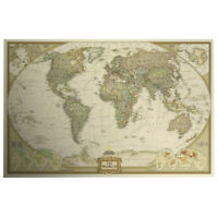 Mapa del mundo histrico pster decoracin de imagen de pared xxl cool vintage retro world map antique paper poster wall chart home decoration gumiabroncs Choice Image