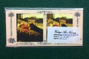 "Artist Original Vintage Style Risque/Pin-up 3D Stereoview Card ""Sasha Mirror #2"""