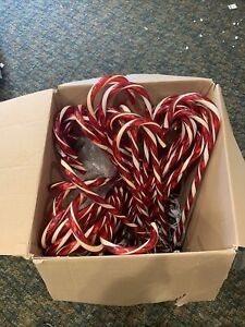 Lot Of 28 Christmas Candy Cane LED Lights Pathway Outdoor Garden Yard Xmas Decor