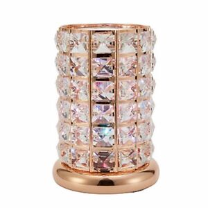 Electric PlugIn Rose Gold Colour Changing Aroma Lamp Wax Melt Oil Burner Warmer