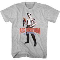 Ace Ventura Pet Detective Parrot Vintage Movie Poster Men's T Shirt Jim Carrey