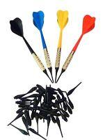 Arachnid Plastic Soft Tip Darts, Lot of 12 Assorted Colors Plus 50 Extra Tips