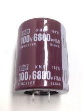 2PCS 6800UF 100V Electrolytic capacitor Temp 105℃ 35X50mm NIPPON  KMH #E064 YX