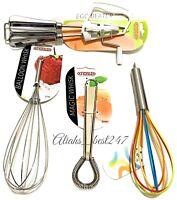 Apollo Splash Rainbow Silicone Kitchen Beater Whisk Magic Whisk Balloon Whisk.