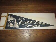 Vintage Philadelphia Pennsylvania Municipal Stadium Speedway Indy Race Pennant