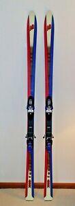 Vintage K2 USA Four 83 183 cm Snow Skis Marker M8.1 Logic EPS Bindings Red Blue