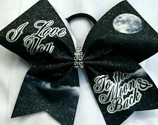 Cheer Bow - I Love You To The Moon & Back   - Hair Bows
