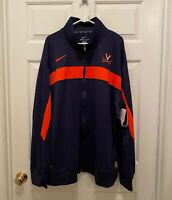 NWT Virginia UVA Cavaliers Football Team Issued Nike Dri-Fit Blue Jacket 3XL