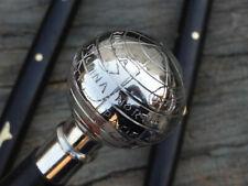 Victorian Brass Globe Head Handle Style Vintage Walking Stick Wooden Cane Gift