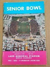 SENIOR BOWL FOOTBALL MEDIA GUIDE - 1971 - JOHN RIGGINS LYNN DICKEY DAN PASTORINI