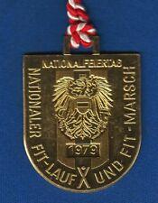 AUSTRIA NATIONALFEIERTAG, NATIONALER FIT-LAUF UND FIT MARSCH 1979 VINTAGE PLAQUE