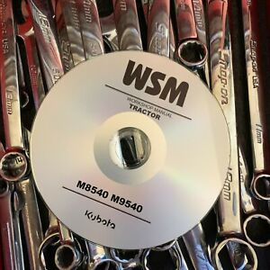 BEST - KUBOTA  M8540 M9540 TRACTOR WSM SERVICE REPAIR / OPERATORS MANUAL CD