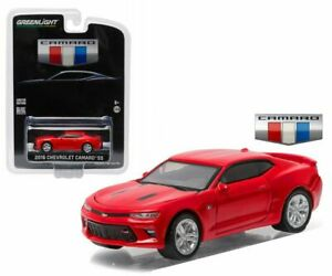 GREENLIGHT 1/64 2016 CHEVROLET CAMARO SS RED ALL NEW UNVEILING EDITION 29861