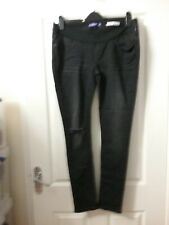 Seraphine Black Super Skinny  Distressed maternity Jeans Sz 14 New