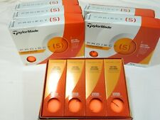 New 6 Dozen Taylormade Project S Golf Balls 72 balls 6DZ Orange Project (S)