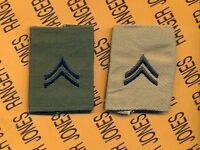 US Army Enlisted CORPORAL CPL E-4 OD Green Desert Reversable slip on rank patch