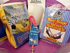 Ferret Supply Lot / Bundle- Litter Pan, Hammocks, Harness & Leash, Water Bottle