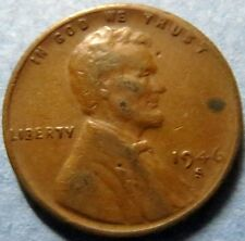 *Vintage 1946-S  LINCOLN WHEAT CENT San Francisco Mint ERROR COIN, S or 8?