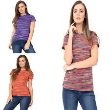 Women Gym Sports Shirt Yoga Top Fitness Running Short Sleeve T-Shirt Size 8-22