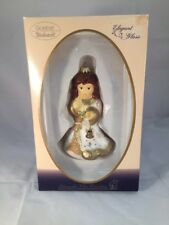 Goebel Weihnacht Mouth Blown Glass Angel With Bell Christmas Tree Ornament